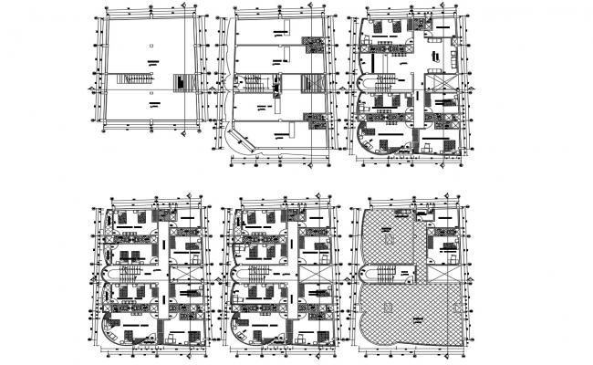 Building plans  in AutoCAD file