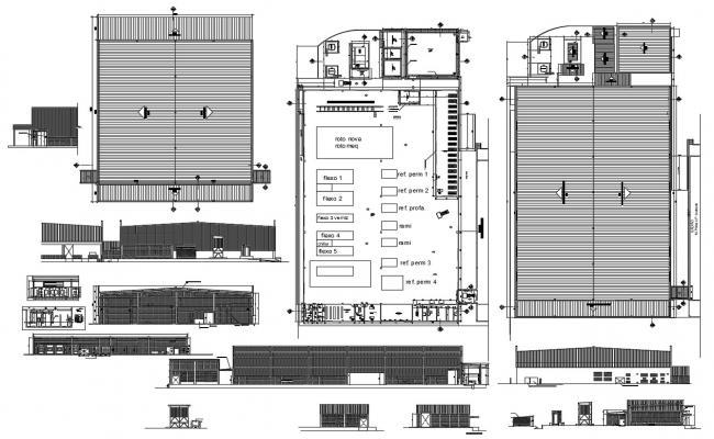 Building Construction Plan Cad File