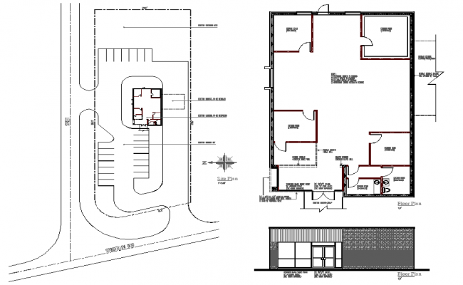 plan of commercial building dwg file