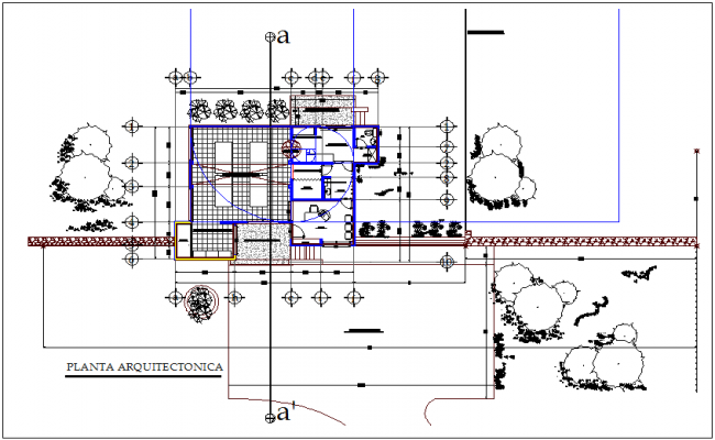 Plan of dairy industrial plant with diverted dwg file