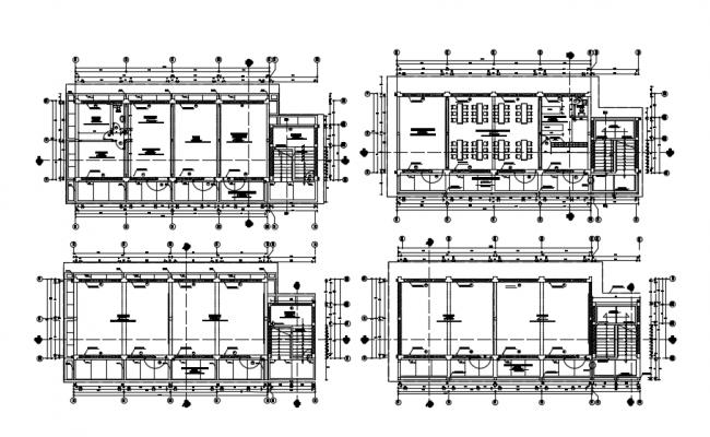 Educational Building CAD Plan