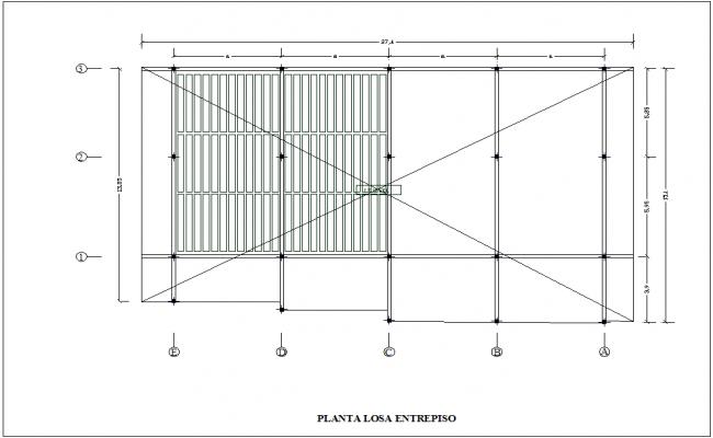 Plan of enterprise for housing dwg file
