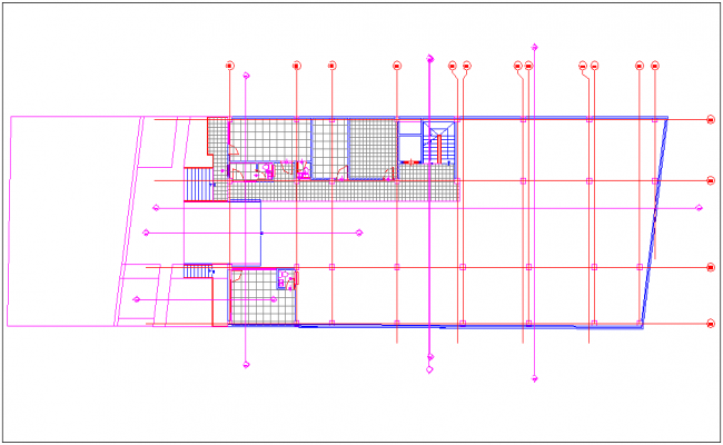 Plan of first floor  for bungalow
