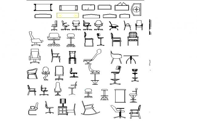 Plan of furniture equipment detail dwg file.