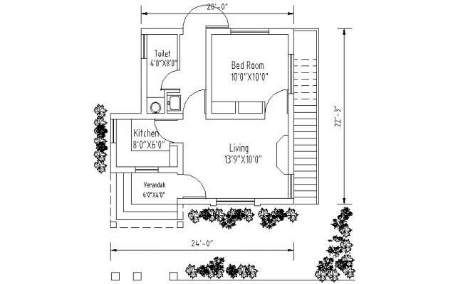 Mini House Plan CAD Drawings
