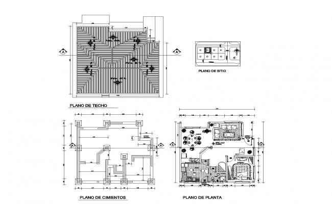 Architectural house plan in AutoCAD file