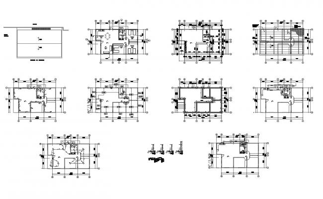 Plan of house design 15.30mtr x 9.73mtr with detail dimension in dwg file
