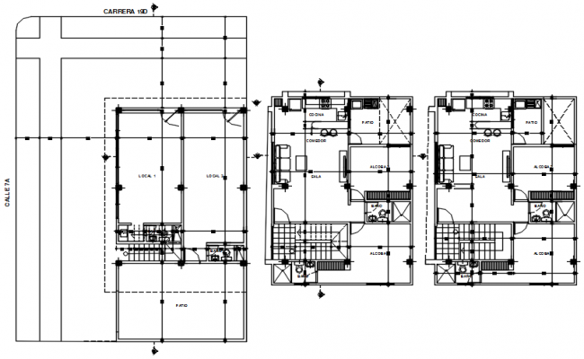 Plan of house design with detail dimension in AutoCAD