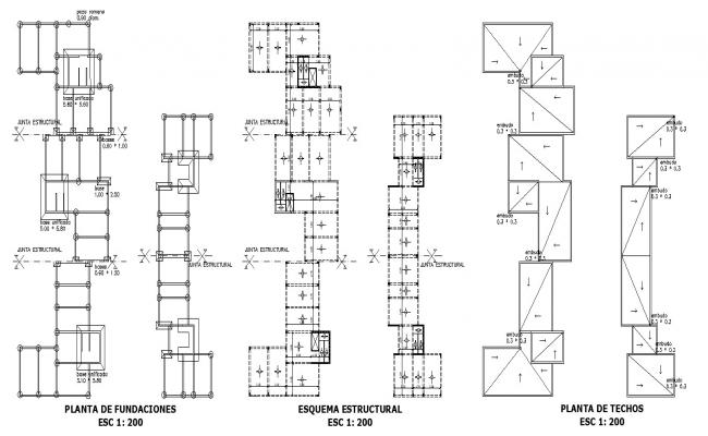 Plan of house drawing in autocad