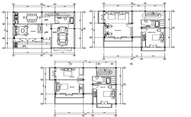 House plan design in DWG file