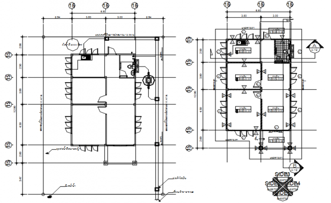 House Plan In AutoCAD File