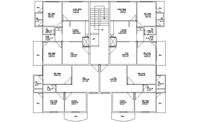 Simple House Plan CAD Drawings
