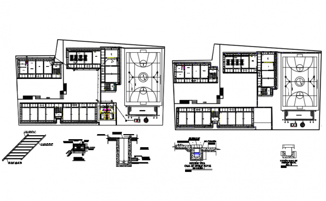 Sports Academy Plan CAD file