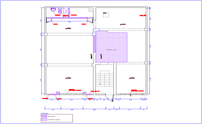 Plan of lifting area with washing area view for office with architectural view dwg file