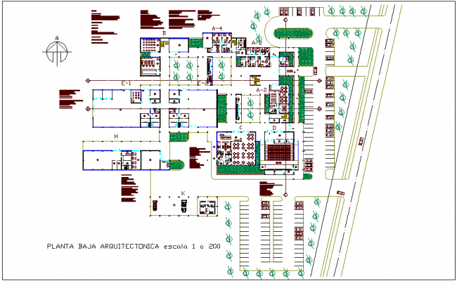 Plan of low level for collage dwg file