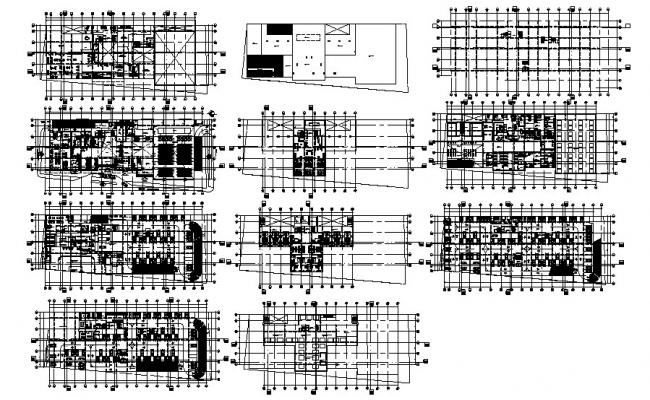 Plan of multipurpose building 120.44mtr x 39.93mtr with detail dimension in dwg file