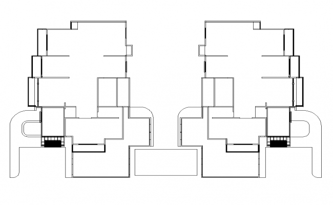 Plan of residential house detail 2d view layout in autocad format file