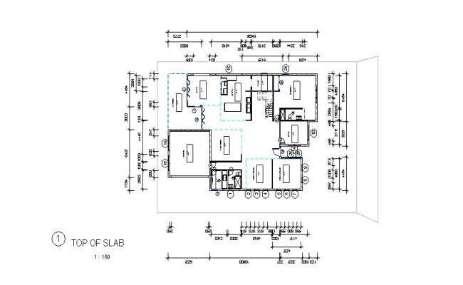 Plan of residential house in revit file