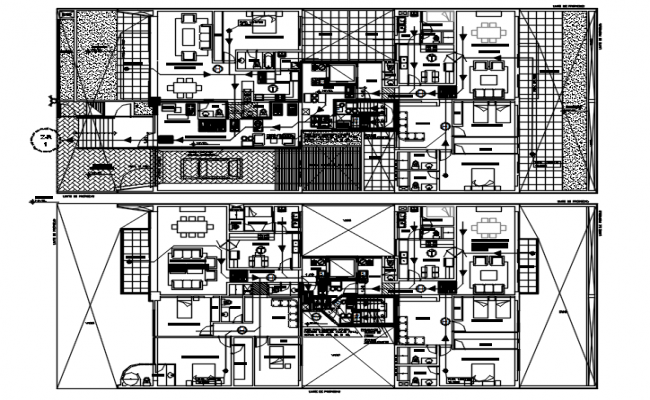 Plan of residential house with detail dimension in dwg file