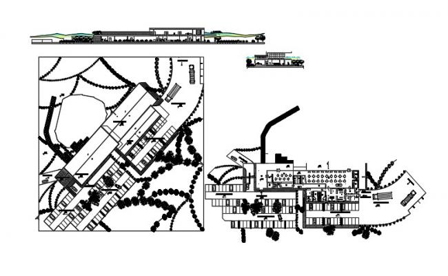 Restaurant plan layout  in AutoCAD file