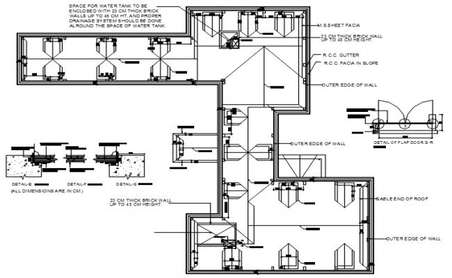 School Building Layout Plan DWG File