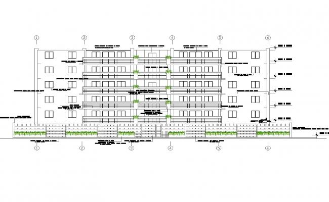 Plan of slab and wall detal detail dwg file.