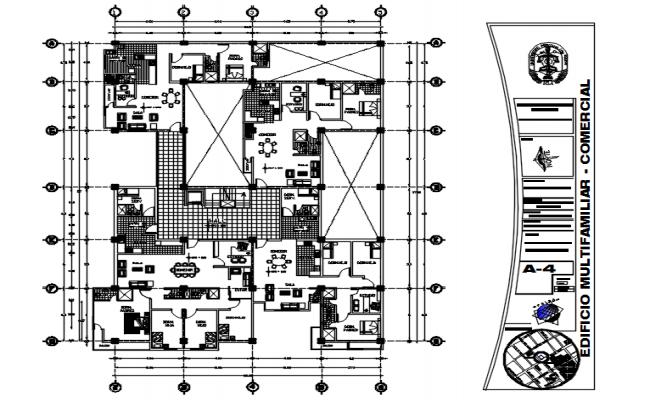 Multi-Family Building Design In AutoCAD File