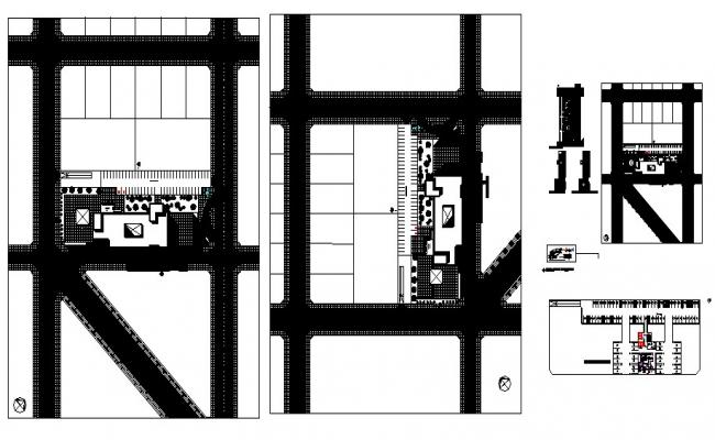 Plan of the hospital in autocad file