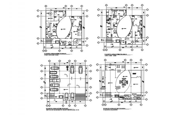 Plan of the hotel design building with detail dimension in dwg file
