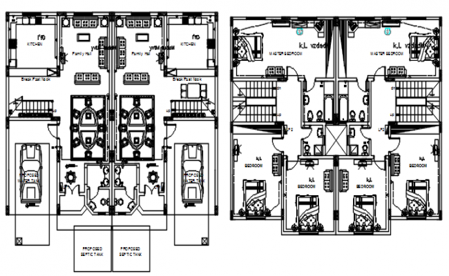 Home Plan Drawing In DWG File