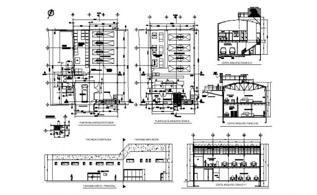 Plan of the industrial warehouse with detail dimension in AutoCAD