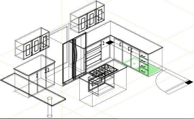 kitchen layout  in DWG file