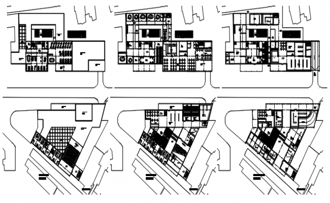 Plan of the multipurpose building with detail dimension in AutoCAD