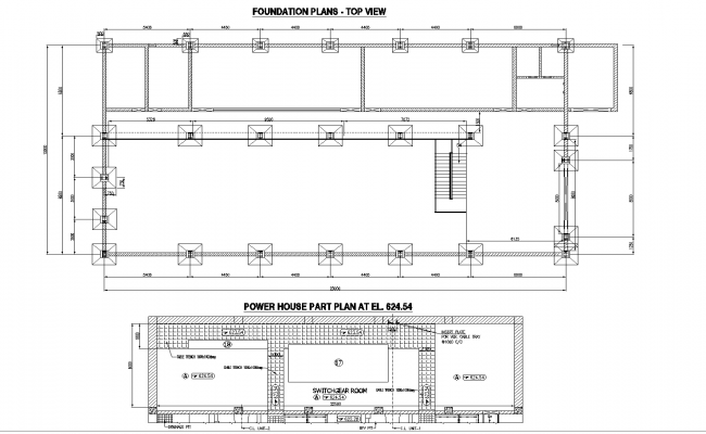 Plan of the powerhouse detail dwg file.
