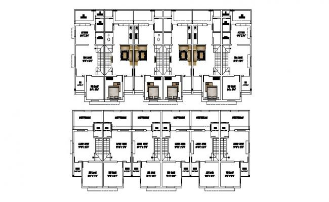 Plan of the residential apartment with detail dimension in dwg file