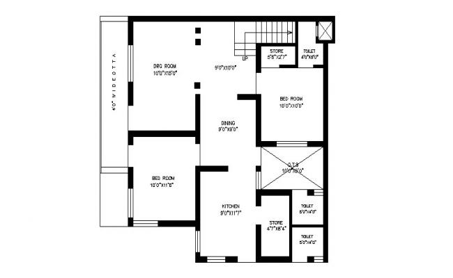 Tiny House Floor Plan In AutoCAD File