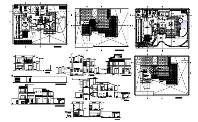 Villa Plan Design In DWG File