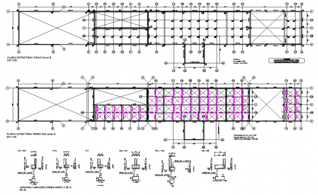 Plan structural reinforcement house layout file