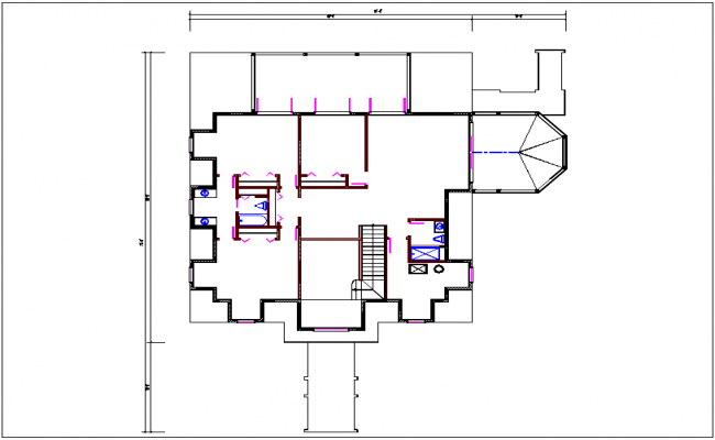 Plan view of house dwg file
