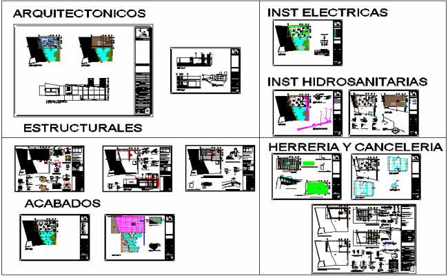 Plan view of terraza club view with electrical,structure and hydraulic view dwg file