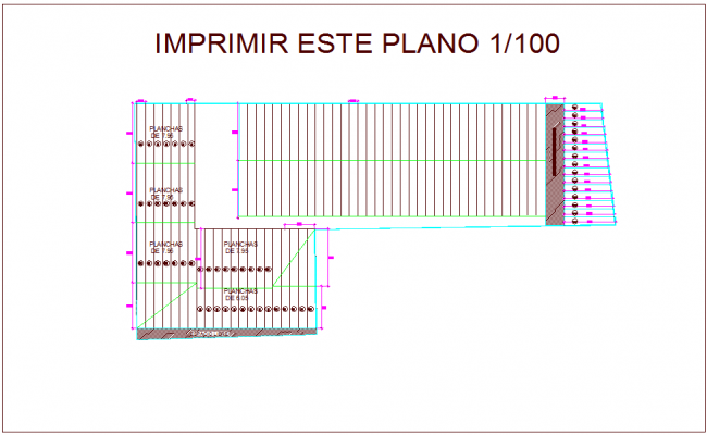 Plan with structure view dwg file