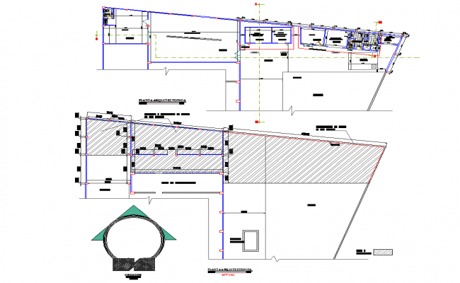 Planing Plant fish processing detail dwg file