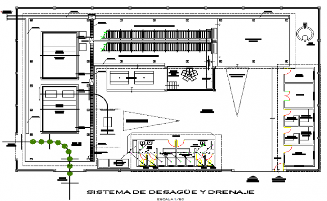 Planning Banana packing plant detail dwg file