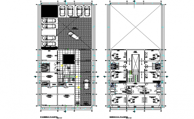 Planning Commercial building plan detail dwg file