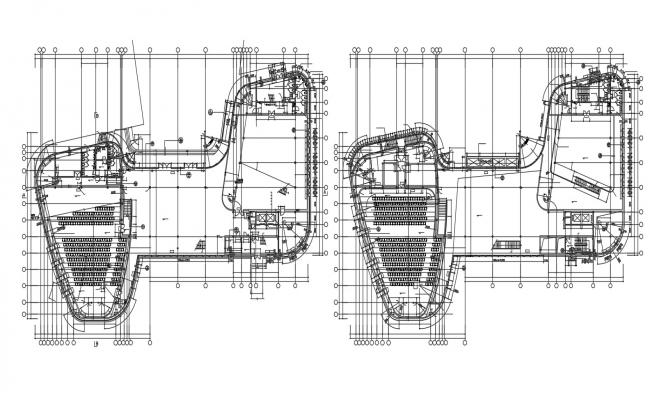 Planning Of Auditorium AutoCAD File