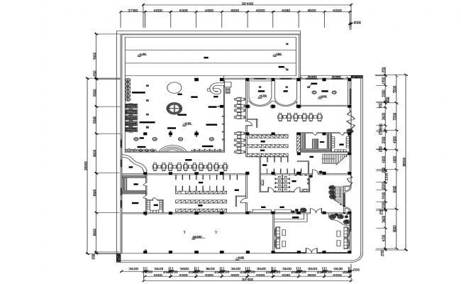 Planning Of Club Design CAD File Free