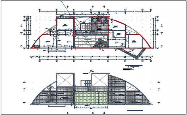 Planning detail center line plan detail dwg file