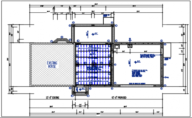 Planning details of the dimension detail, naming detail, existing house detail dwg file