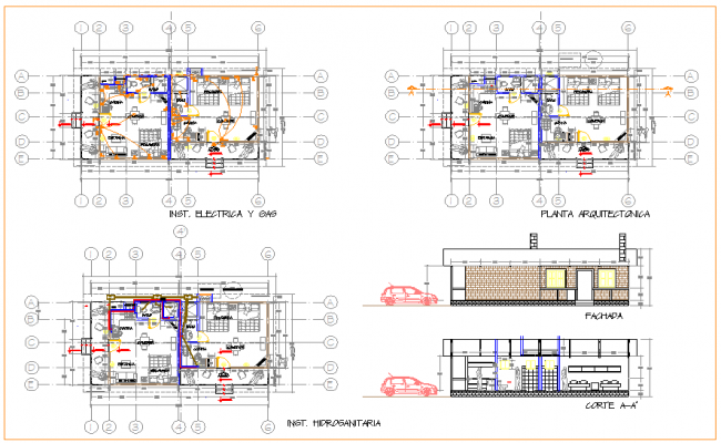 Planning drawing of hotel
