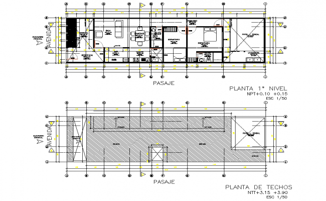 Planning house detail autocad file